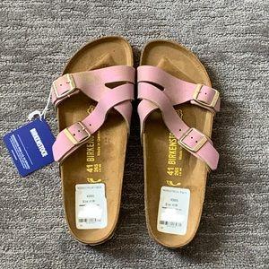 NWT Birkenstock - Yao Pink Metallic Slide Sandal